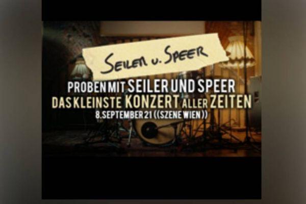 Konzertkarten für Seiler und Speer