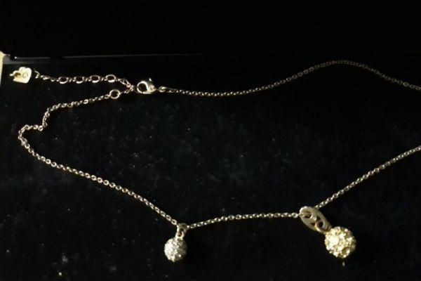 Swarovski Halskette mit zwei Anhängern