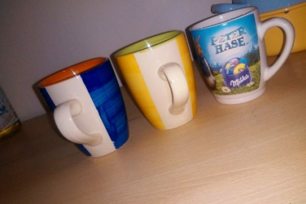 Verkaufe drei verschiede Kaffe Tasen