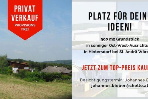 VON PRIVAT: Sonniger Baugrund Nähe Klosterneuburg