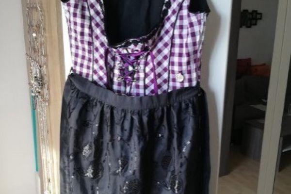 Dirndl Größe 40 mit Bluse und Schürze von Marjo