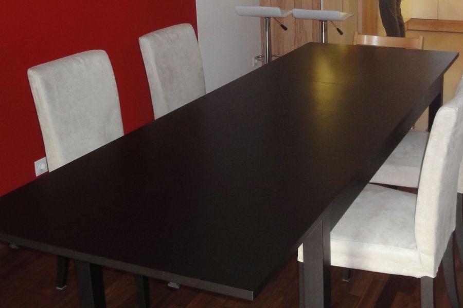 Ikea Tisch ausziehbar mit 6 Sesseln und unterschiedlichen Sitzbezügen - Bild 2