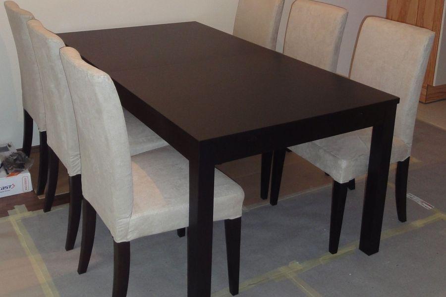 Ikea Tisch ausziehbar mit 6 Sesseln und unterschiedlichen Sitzbezügen - Bild 4