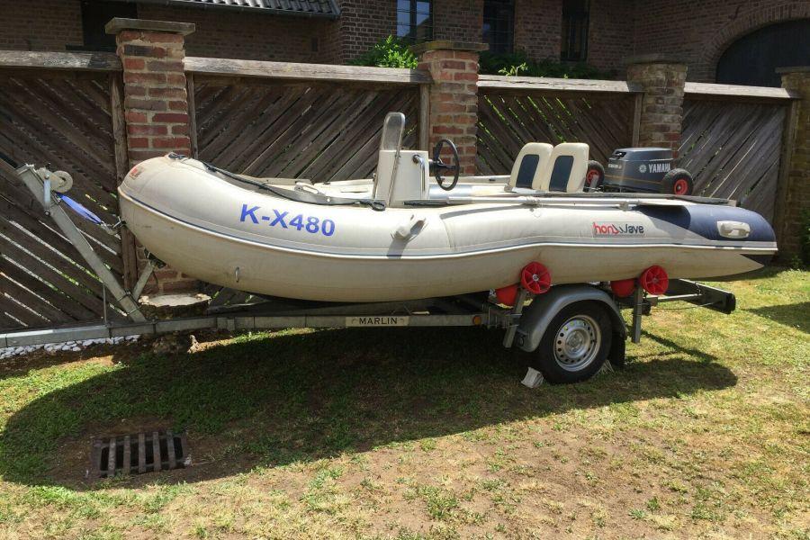 Schlauchboot mit Motor und Anhänger 4,10m x 2,00m - Bild 3